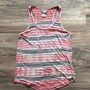 Hard tail racer back top holes peach pink S